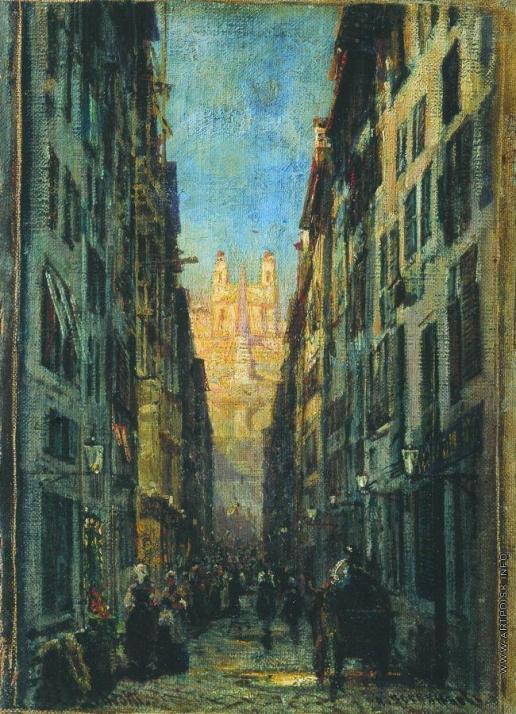 Боголюбов А. П. Улица в Риме