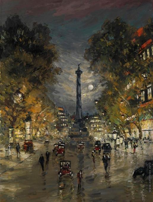 Коровин К. А. Площадь Бастильи ночью
