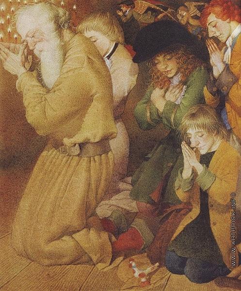 Спирин Г. К. Иллюстрация к книге Мадонны «Яков и семеро разбойников»