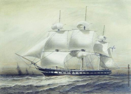 "Боголюбов А. П. Фрегат ""Паллада"" 1847 года"