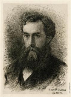 Матэ В. В. Потрет П.М. Третьякова с портрета работы И.Н. Крамского