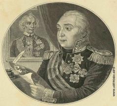 Серяков Л. А. Портрет Михаила Илларионовича Кутузова (с портретом Суворова)