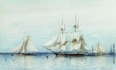 """Боголюбов А. П. Яхта """"Дружба"""". 1849 год"""