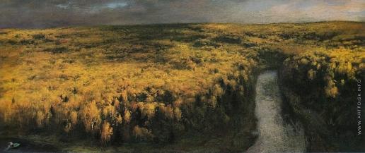Коркодым В. Н. Золотая осень на реке Пуе