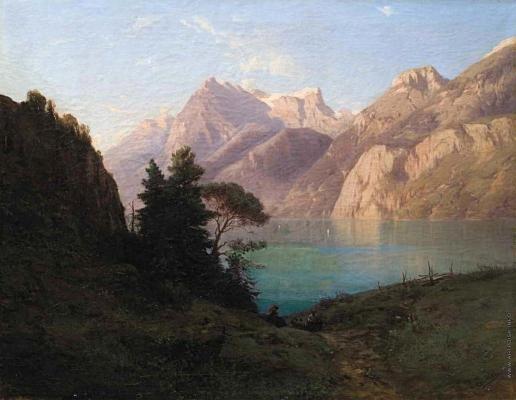 Эрасси М. С. Горное озеро