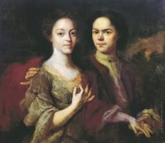 Матвеев А. М. Автопортрет с женой Ириной Степановной