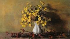 Коркодым В. Н. Осенний натюрморт с золотыми шарами и рябиной