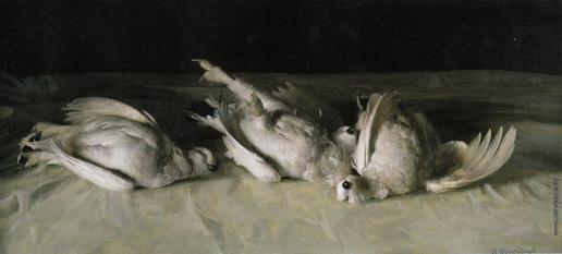 Коркодым В. Н. Куропатки. Белое на белом