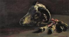 Коркодым В. Н. Натюрморт с бараньей головой (Рожки да ножки)
