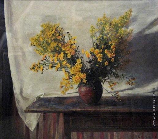 Коркодым В. Н. Натюрморт с желтыми цветами