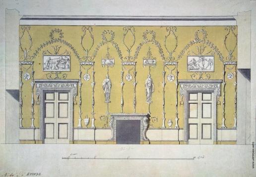 Камерон К. К. Проект Зеленой столовой в Екатерининском дворце Царского Села