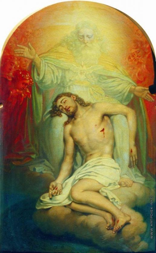 Боровиковский В. Л. Бог-отец, созерцающий мертвого Христа. Эскиз