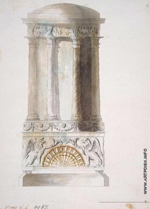 Камерон К. К. Проект печи для Лионской и Арабесковой гостиных Екатерининского дворца в Царском Селе