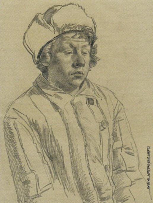 Коркодым В. Н. Рисунок к картине «Мужики»
