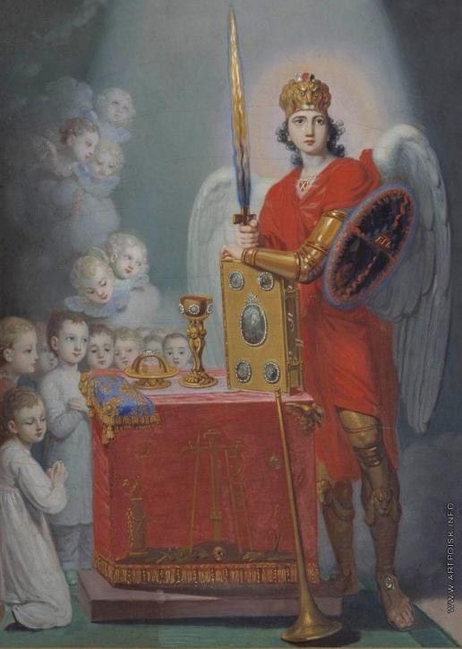Боровиковский В. Л. Дети императора Павла Петровича у престола