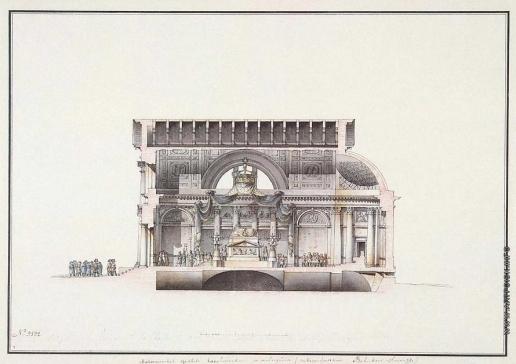 Кваренги Д. Мальтийская капелла в Санкт-Петербурге. Продольный разрез по главной оси