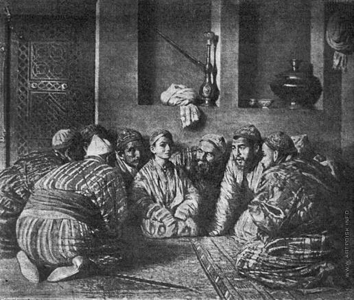 Верещагин В. В. Бача со своими поклонниками