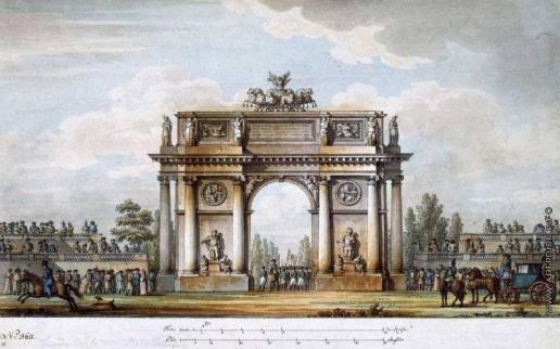 Кваренги Д. Триумфальные ворота у Нарвской заставы