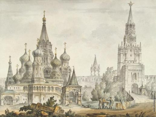 Кваренги Д. Покровский собор и Спасская башня