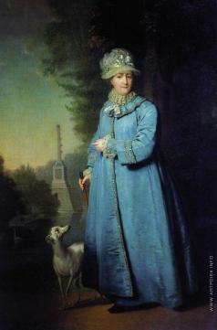 Боровиковский В. Л. Екатерина II на прогулке в Царскосельском парке (с Чесменской колонной на фоне)