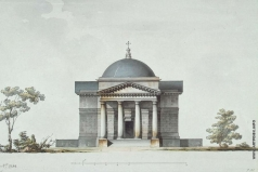 Кваренги Д. Церковь-усыпальница в имении А.А. Безбородко. Фасад