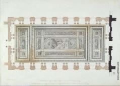 Кваренги Д. Георгиевский зал в Зимнем дворце. План с изображением плафона