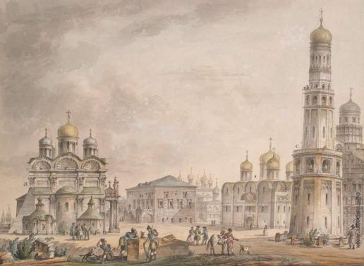 Кваренги Д. Соборная площадь в Московском Кремле