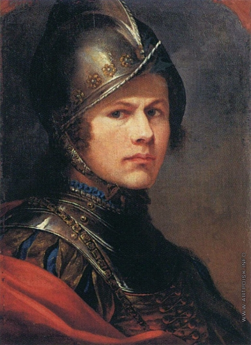Яненко Ф. И. Автопортрет в шлеме и латах