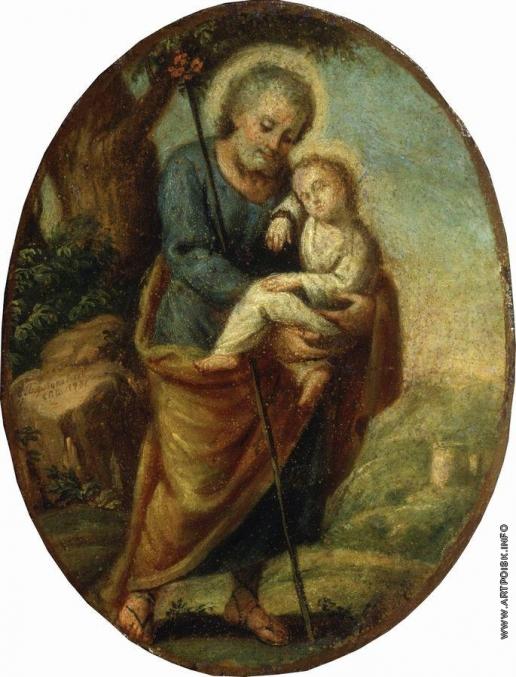 Боровиковский В. Л. Иосиф с младенцем Христом