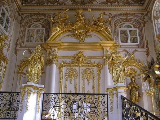 Растрелли Б. Парадная лестница Большого дворца в Петергофе