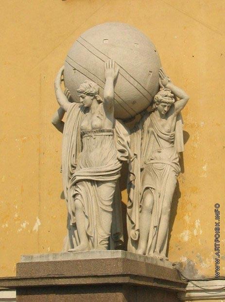 Щедрин Ф. Ф. Морские нимфы, несущие глобус