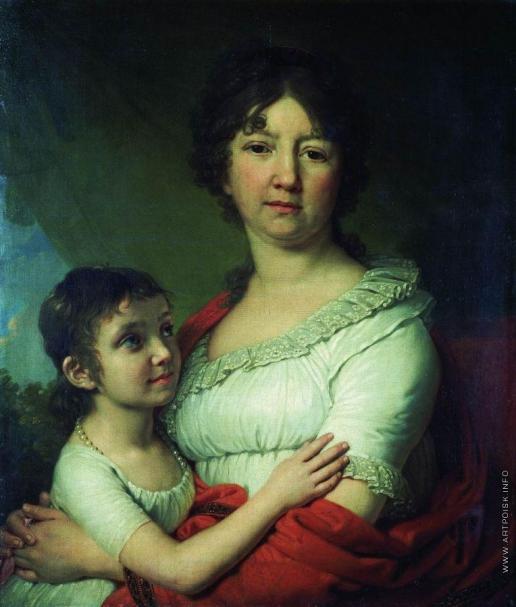 Боровиковский В. Л. Портрет А.Е.Лабзиной с воспитанницей С.А.Мудровой