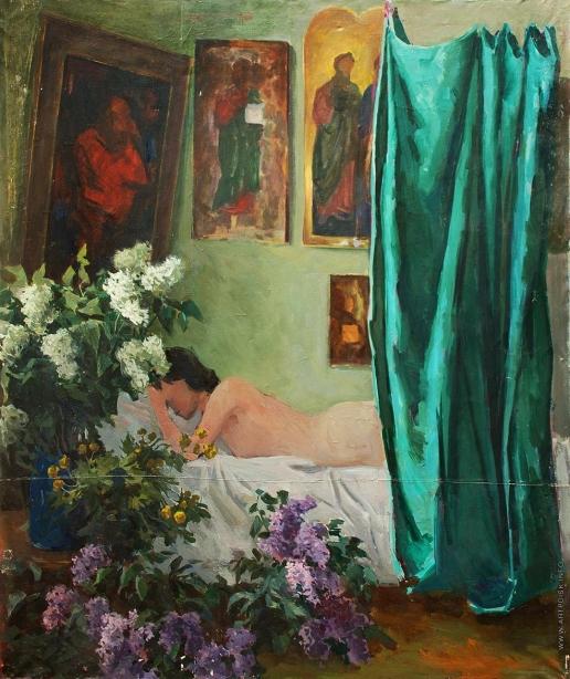 Талалаев А. Н. Обнаженная в интерьере