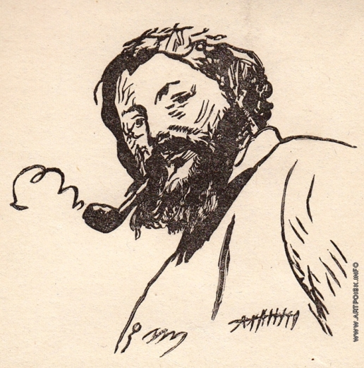 Маторин М. В. Иллюстрация к обложке книги «Курбе»