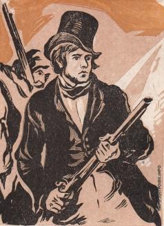 Маторин М. В. Иллюстрация к обложке книги «Делакруа»