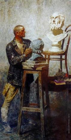 Коржев-Чувелев Г. М. Гомер (Рабочая студия)