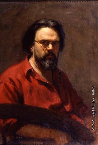 Лактионов А. И. Автопортрет с палитрой
