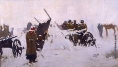 Попов Л. В. Переселенцы зимой
