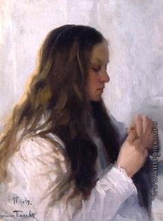 Попов Л. В. Женщина, примеряющая кольцо