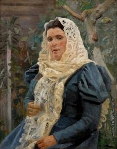 Попов Л. В. Женский портрет