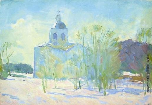 Герасимов С. В. Март. Церковь в Новгороде