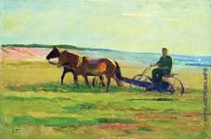Герасимов С. В. На полевых работах