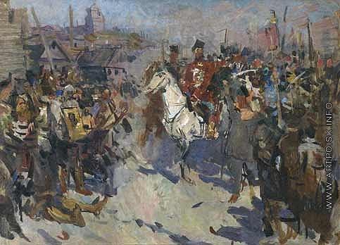 Герасимов С. В. Восстание Пугачева. (Эскиз к картине)