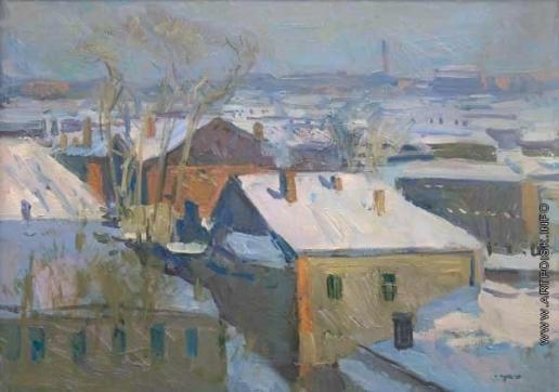 Герасимов С. В. Вид из мастерской на Верхней Масловке