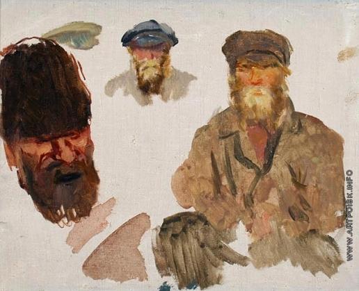 Герасимов С. В. Этюд мужских голов