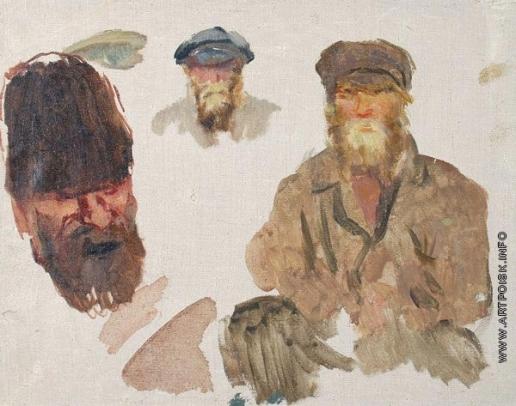 Герасимов С. В. Эскиз. Три типажа