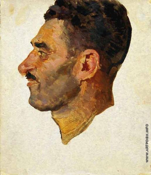 Герасимов С. В. Голова мужчины. (Этюд)