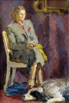 Герасимов С. В. Этюд женщины с собакой. (Любовь Орлова)