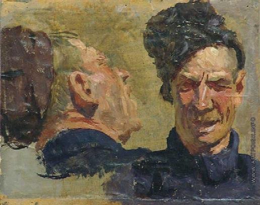 Герасимов С. В. Два этюда мужской головы