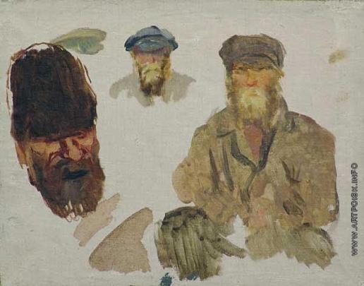 Герасимов С. В. Этюды мужских голов